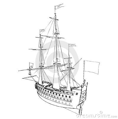 The Ancient Ship Vector 05