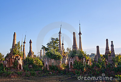 Ancient Shwe Inn Thein Pagoda in Myanmar