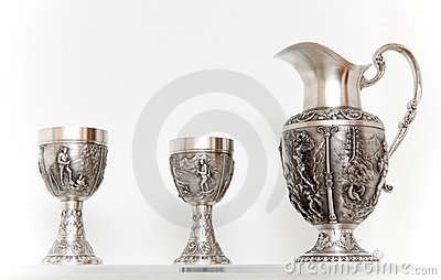 Ancient silver tableware