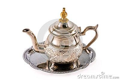 Ancient silver teapot