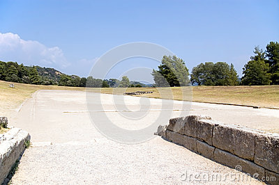 Ancient stadium in Olympia for Olympic Games