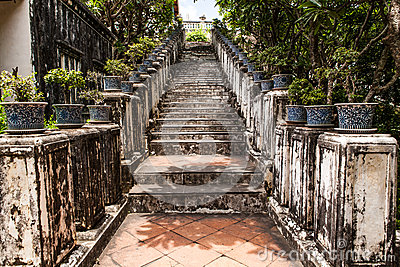 Ancient stair at Thailand palace