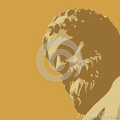 Ancient statue (vector)