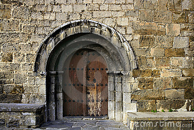 Ancient stone arch romanic architecture