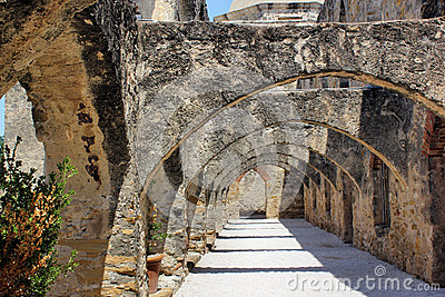 Ancient Stone Arched Walkway