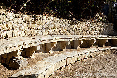 Ancient stone benches