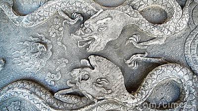 Ancient  stone carvings  of Dragon