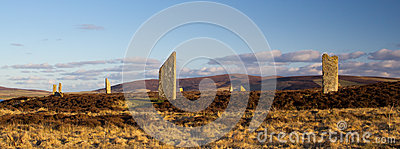Ancient stone circle and henge