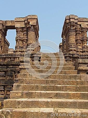 Ancient stone steps, Sun Temple, Konark, India