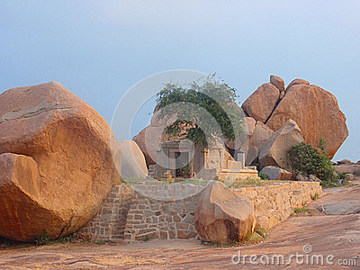 Ancient stone temple in hampi