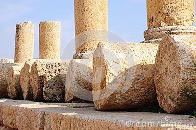 Ancient stones and columns