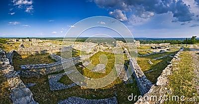 Ancient stonewalls of Bribirska glavica