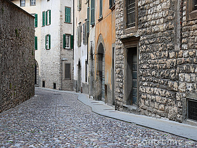 Ancient street in  Italy