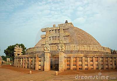 Ancient Stupa in Sanchi,India