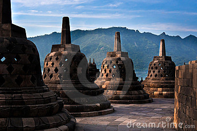 Ancient Stupas of Borobudur Temple