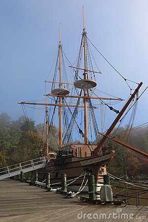 Ancient Style Ship in Jamestown