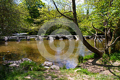 The Ancient Tarr Steps In Devon Royalty Free Stock Photo - Image: 25280025