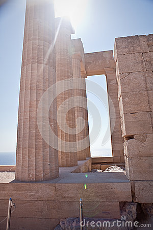 Ancient temple of Apollo at Lindos