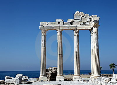 Ancient Temple of Apollo on the Mediterranien Sea