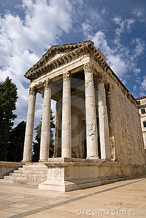 The ancient temple of Augustus