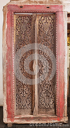 Ancient temple door