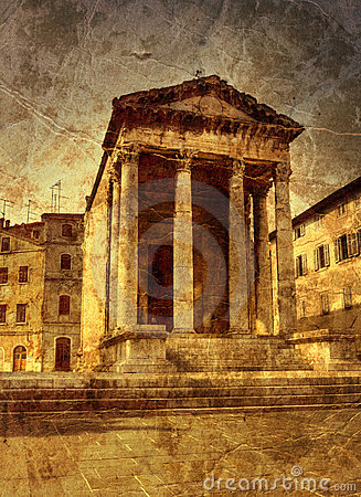 Free Ancient Temple In Pula Royalty Free Stock Photo - 14368125
