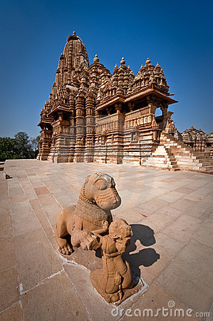 Ancient temple at Khajuraho