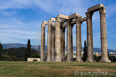 Ancient Temple Of Olympian Zeus In Athens Greece O Royalty Free Stock Photos - Image: 15296888