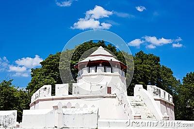 Ancient Thai fortress named Pom Maha Kan