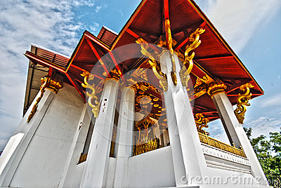 Ancient Thai temple in northern Thailand HDR