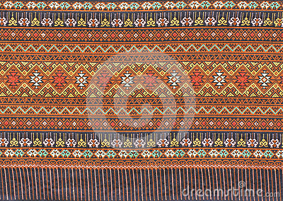 Ancient thai woven cloth
