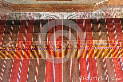Ancient thai woven cloth.