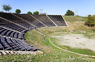 Ancient theater of Dion at Greece
