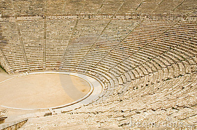 Ancient theater in Epidaurus, Greece