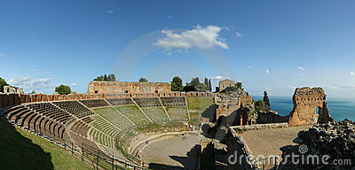 Ancient theatre of Taormina, Italy