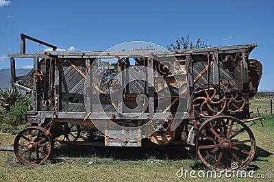 Ancient threshing machine