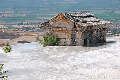 Ancient tomb in Pamukkale, Turkey