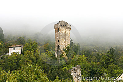 Ancient tower in Castellane (Provence)