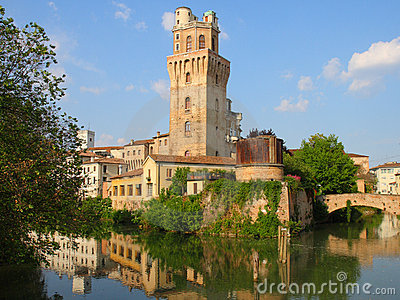 Ancient tower in Padua