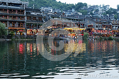 The Ancient town of FengHhuang Editorial Stock Photo