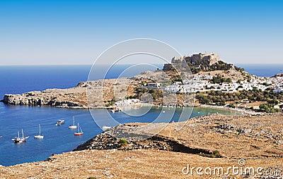 Ancient town Lindos, Rhodes island, Greece