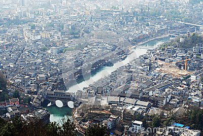 The ancient town of Phoenix Tuojiang River
