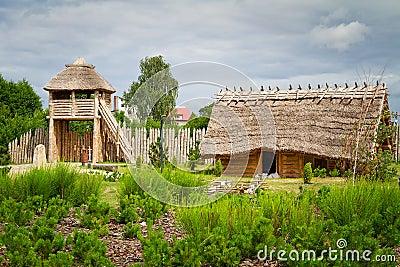 Ancient trading faktory village in Pruszcz Gdanski