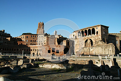 Ancient trajan forum