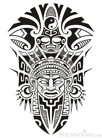 Free Ancient Tribal Mask Vector Illustration Royalty Free Stock Photos - 46843668