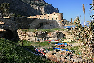 ANCIENT TUNA-FISHING BUILDING 6 BAY Sicily