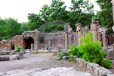 Ancient Turkish ruined city