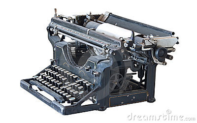 Ancient typewriter
