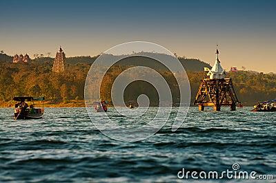 Ancient underwater temple in Thailand