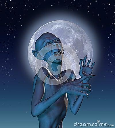 Ancient Vampire in Moonlight
